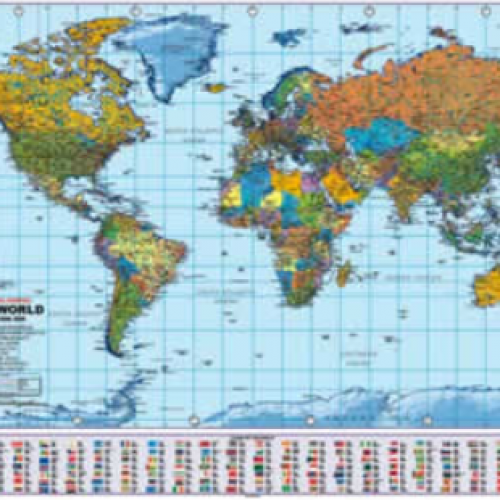 Eduwiz world map political a1 size world map political a1 size gumiabroncs Images